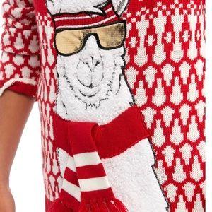 Boy holiday Llama Sweater
